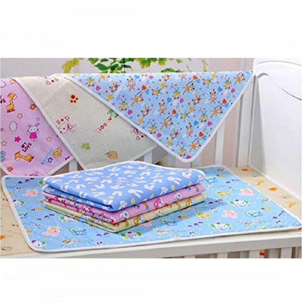 Fareto New Born Baby Combo of 33 Daily Needs Items in Single Packet/6 Shirt, 6Caps, 6Nappies/ 1 Mosquito Bed/ 1 Sleeping Bag/ 3 Blankets/ 4 Changing Sheets/6 Pairs Booty Mittens(0-3 Months)