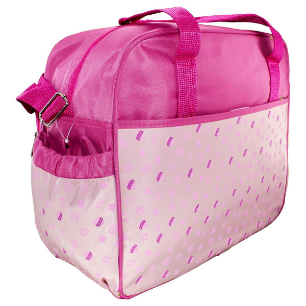 Rachna's Infant Stroller Print Multi-Purpose Travel Organizer Water Repellent Baby Diaper Bag - 3212 - Pink